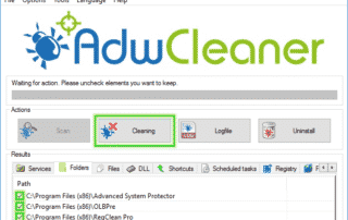 Cleaning_Option_Adwcleaner_sos-malware-320x202 Tutorial Adwcleaner - Cleaning Option Xplode AdwCleaner