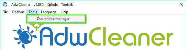 Tutorial Adwcleaner - Quarantine Manager - 2017 - 2018