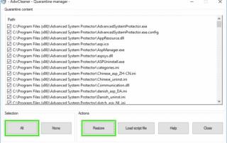 Quarantine_manager_window_Adwcleaner_sos-malware.-320x202 Tutorial Adwcleaner - Quarantine Manager Xplode AdwCleaner