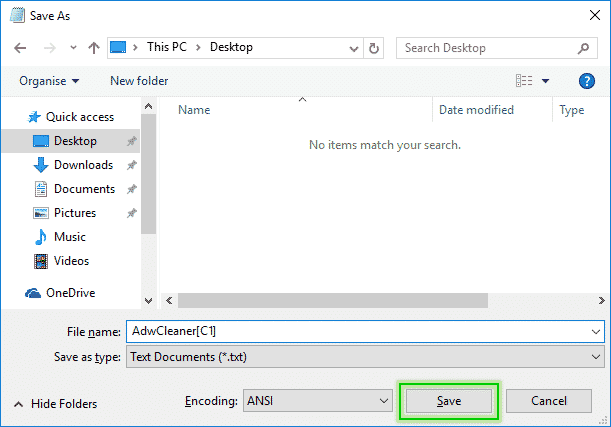 Tutorial Adwcleaner - Cleaning Option