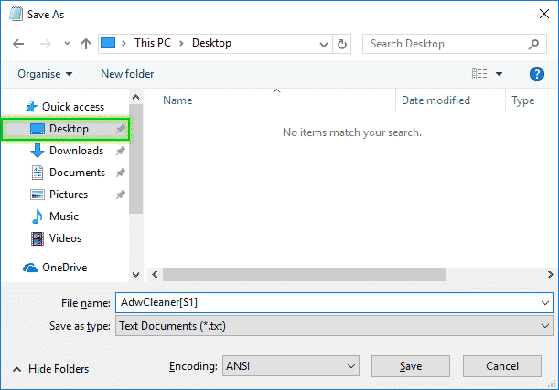 Tutorial Adwcleaner - Scan Option