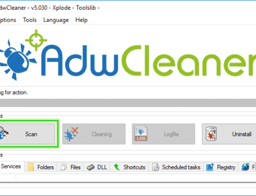 Tutorial Adwcleaner – Scan Option