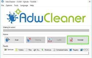 Uninstall_Option_Adwcleaner_sos-malware-320x202 Tutorial Adwcleaner - Uninstall Option Xplode AdwCleaner