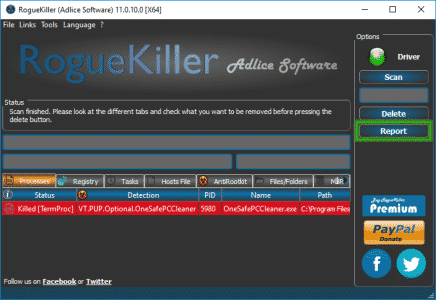 Tutorial RogueKiller