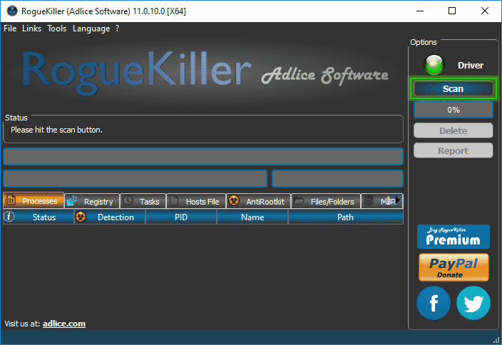 Tutorial RogueKiller