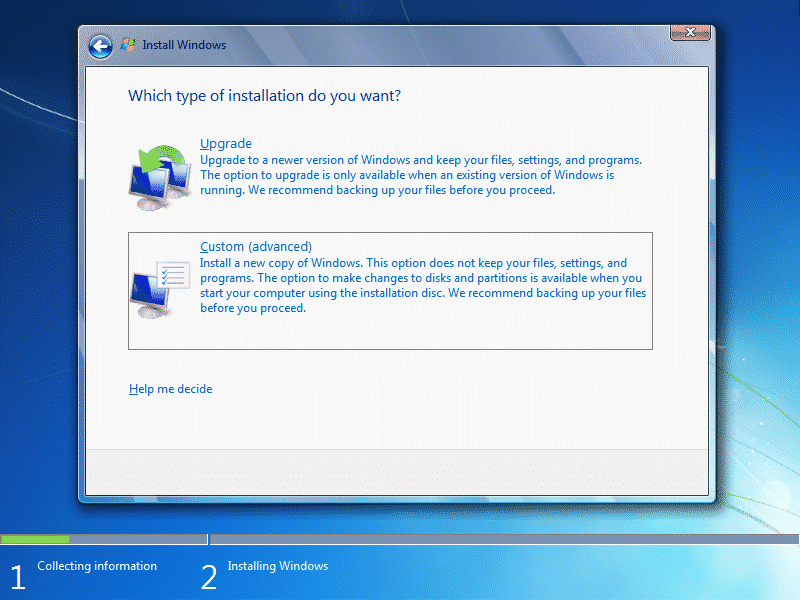 Tutorial_Windows_7_Starting_windows_custom_advanced