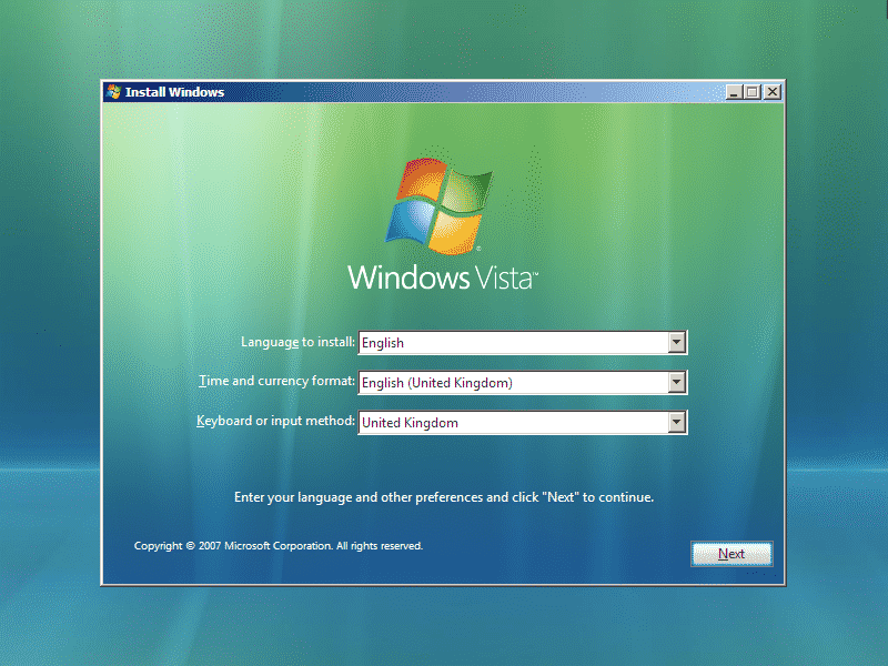 windows vista sosvirus