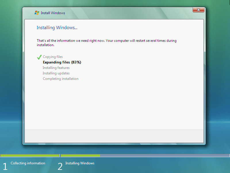 Download and Install Windows Vista