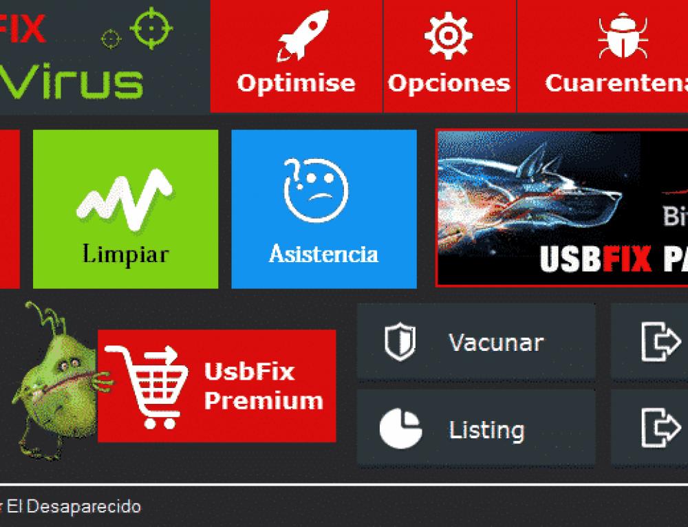 Manual UsbFix : Limpiar los discos USB