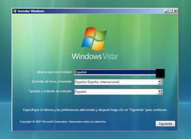 Windows Vista Home Basic ISO 32 Bits en espanol