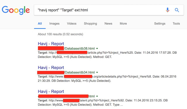 1492006757 141 reportes de ataques sql injection hechos con havij indexados en google sqlinjection hacking - Reportes de ataques SQL Injection hechos con Havij indexados en Google #SQLInjection #hacking