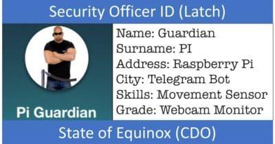 Pi Guardian: Un sistema de seguridad con Latch, Bots de Telegram y una Raspberry Pi con ojos #RaspberryPi #Latch