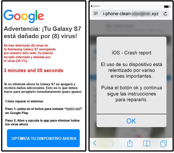 Scareware para Android e iOS