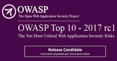 Publicada OWASP Top Ten 2017 Release Candidate 1