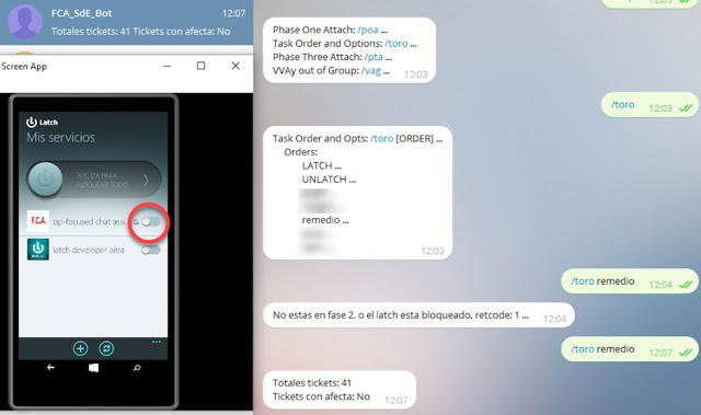 Un bot de Telegram protegido con Latch en un Datacenter Telegram, Latch, ElevenPaths, bots, 2FA