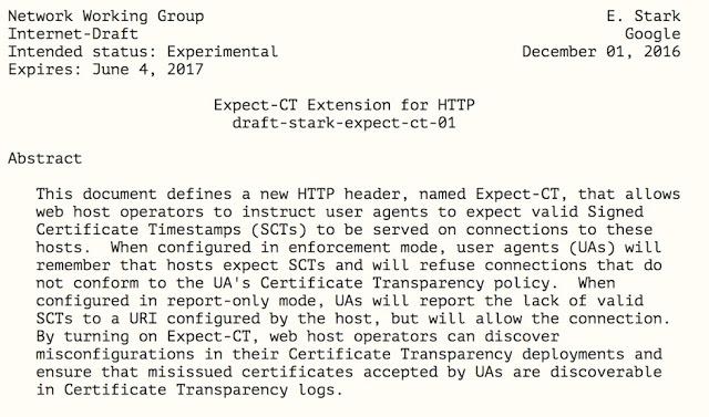1492513228 388 expect ct un nuevo http header de google para certificate transparency - Expect-CT: Un nuevo HTTP Header de Google para Certificate Transparency