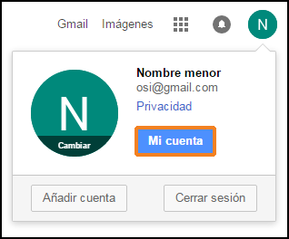 Mi cuenta en Google