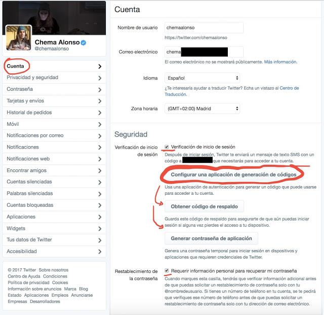 Cómo proteger tu cuenta de Twitter con Latch Cloud TOTP twitter, TOTP, Latch, Identidad, hardening, fortificación, ElevenPaths, Cloud, 2FA