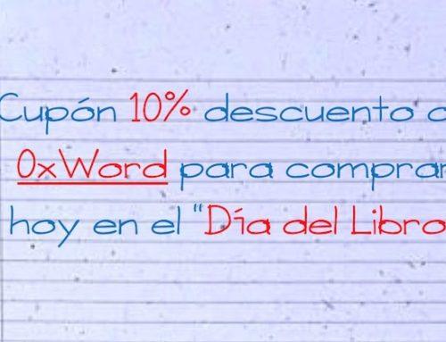 """Cupón 10% descuento de @0xWord para comprar hoy en el """"Dia del Libro"""" #DiaLibro"""