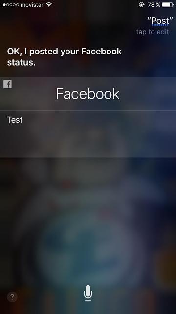 """Y con Siri """"sí, no, no, sí, sí"""" puedes controlar el acceso a tu cuenta de Facebook - 2017 - 2018"""