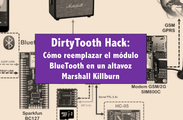DirtyTooth Hack: Cómo reemplazar el módulo BlueTooth en un altavoz Marshall Killburn Privacidad, Música, Iphone, iOS, Hacking, ElevenPaths, DirtyTooth, BlueTooth