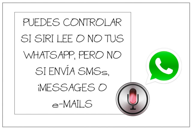 puedes controlar si siri lee o no tus whatsapp pero no si envia sms imessages o e mails - Puedes controlar si Siri lee o no tus WhatsApp, pero no si envía SMS, iMessages o e-mails