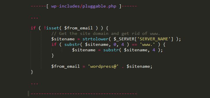 Código para hackear un sitio web WordPress y cambiar el SERVER_NAME para obtener el restablecimiento de contraseña de un usuario registrado en el backoffice