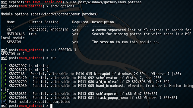 Pentesting Windows: Buscar vulnerabilidades no parcheadas con Metasploit, WMI y Powershell #Hacking - 2017 - 2018