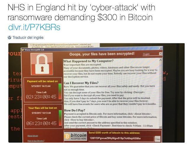 1494640093 94 el ataque del ransomware wannacry - El ataque del ransomware #WannaCry