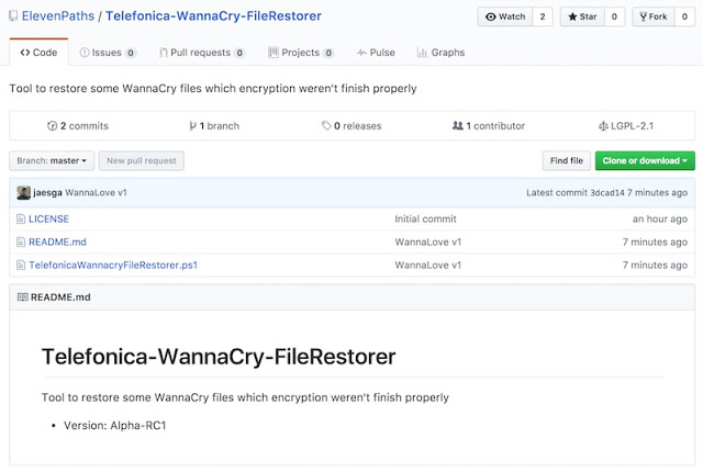 1495117073 110 como recuperar ficheros afectados por wannacry telefonica wannacry file restorer - Cómo recuperar ficheros afectados por WannaCry. Telefónica WannaCry File Restorer.