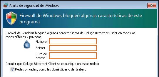 Imagen de bloque del Firewall de un programa