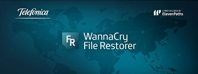 Cómo restaurar ficheros con Telefónica Wannacry File Restorer Alpha 0.1 versión escritorio Telefónica, ransomware, Malware, ElevenPaths, antiransomware, antimalware