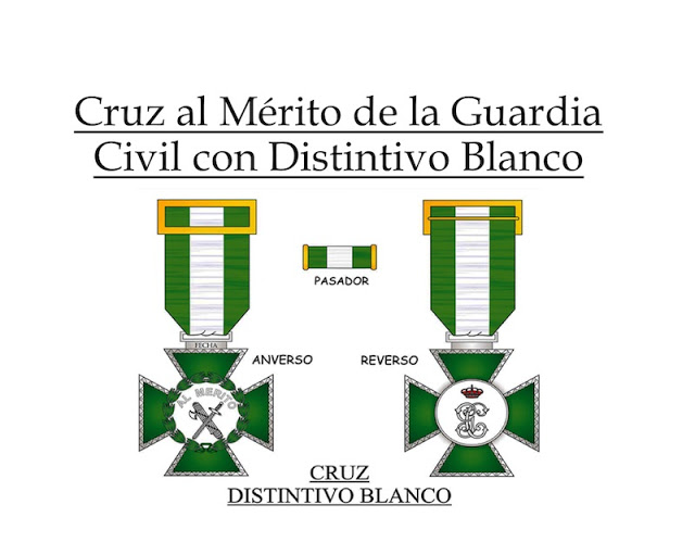 Cruz al Mérito de la Guardia Civil con Distintivo Blanco Curiosidades