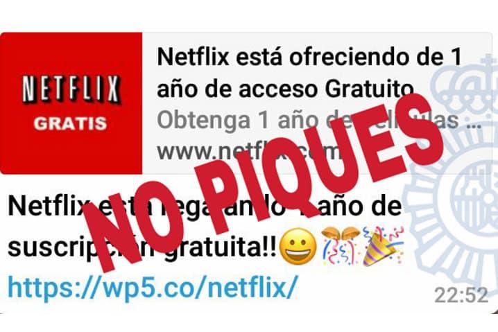 la oferta de un ano gratis de netflix que circula por whatsapp es falsa - La oferta de un año gratis de Netflix que circula por WhatsApp es falsa