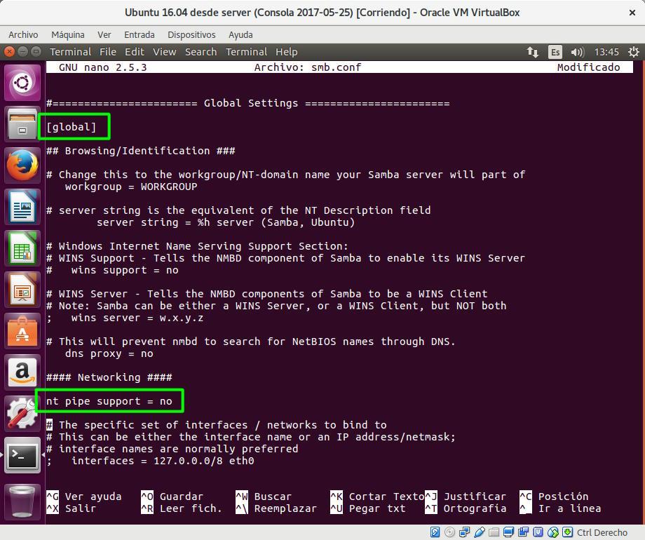 Medida de mitigación para la vulnerabilidad hallada en Samba (para versiones obsoletas del servidor)