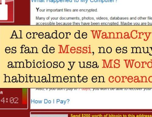 El creador de WannaCry es fan de Messi, no es muy ambicioso y usa Microsoft Word habitualmente en coreano