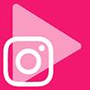 Play y logo de Instagram