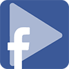 Play y logo de Facebook