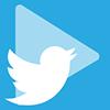 Play y logo de Twitter