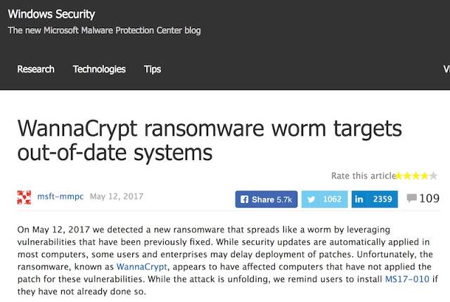 1498683323 883 petya con eternalblue el miedo a un nuevo wannacry y el incentivo a no parchear inmediatamente de microsoft - Petya con Eternalblue, el miedo a un nuevo WannaCry y el incentivo a no parchear inmediatamente de Microsoft