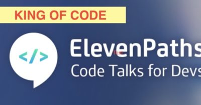 King of Code: ElevenPaths CODE Talks for Devs