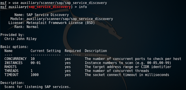 Descubrir la infraestructura interna de SAP con Metasploit SAP, pentesting, metasploit, Hacking