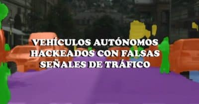 Vehículos autónomos hackeados con falsas señales de tráfico