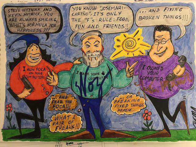 1504186320 425 steve wozniak kevin mitnick chema alonso cenan en california y yo me desmayo p - Steve Wozniak, Kevin Mitnick & Chema Alonso cenan en California... y yo me desmayo }:P
