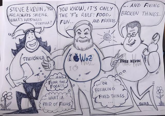 1504186320 749 steve wozniak kevin mitnick chema alonso cenan en california y yo me desmayo p - Steve Wozniak, Kevin Mitnick & Chema Alonso cenan en California... y yo me desmayo }:P
