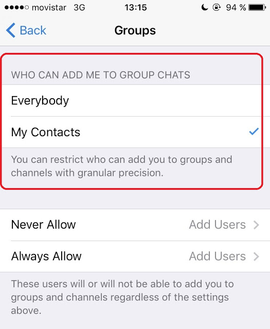 "una opcion en telegram que arregla el desbloqueame de whatsapp - ""Weaponizing"" Features"