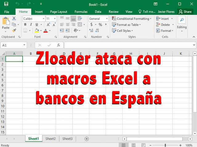 Zloader ataca con macros Excel a bancos en España troyano, Malware, fraude online, fraude, Excel, e-mail