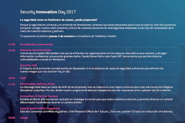 1505246536 989 security innovation day 2017 security rocks 5 de octubre con mikko hypponen en madrid - Security Innovation Day 2017: Security Rocks! 5 de Octubre con Mikko Hyppönen en Madrid