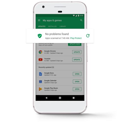 Imagen de la aplicación una vez escaneadas las aplicaciones instaladas en el móvil indicando que no ha encontrado ningún problemas.