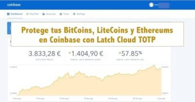 Protege tus BitCoins, LiteCoins y Ethereums en Coinbase con Latch Cloud TOTP